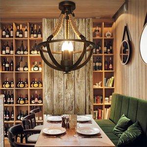 خمر الرجعية الثريا دور علوي أدى أضواء مطعم غرفة الطعام مقهى غرفة المعيشة ضوء مصباح صالون الملابس droplight حبل القنب قلادة