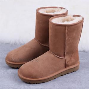 Multi donne di stili classico Snow Boots pelliccia calda della caviglia arco corto pelliccia Mezza Booties Nero Castagno Boot Scarpe casual piattaforma Mens Sneakers