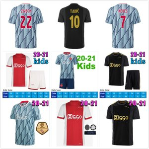 20 21 AJAX Amsterdam FC 50th Soccer Jersey 2020 2021 PROMES TADIC NERES Men Kids Player Version Football Shirts 50 Year Uniforms Kits