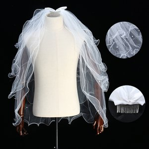 1pcs Beautiful Pearl Veil One Layer Bridal Veil White Ivory Wedding with Pearls Bride Accessories