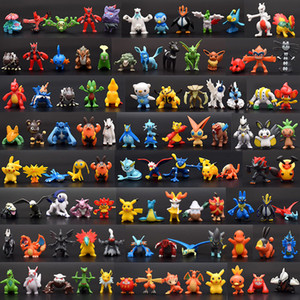2-3 cm 144pcs / lot Style Charizard Gengar Dragonite Rayquaza Vulpix Action Figures PVC Giocattolo Best Halloween Regali