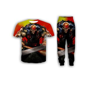 New Fashion Women Mens Five Finger Death Punch Funny 3d Print T-Shirt + Jogger Pants Casusal Tracksuit Sets S02