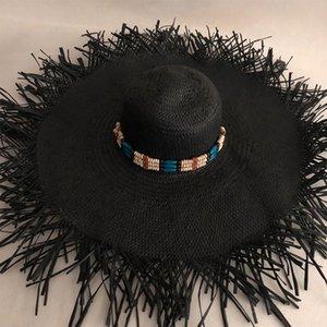 LVTZJ Verão chapéus de palha mulheres grande aba larga sol chapéu de praia chapéus de proteção solar dobrável bloco UV panamá chapéu osso chapeu feminino