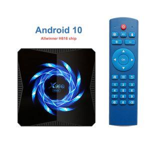 X96Q MAX Android 10 Allwinner H616 4GB 32 / 64GB Quad-Core-Suppot 4K 2.4G5G WIFI BT5.0 Smart-TV-Box