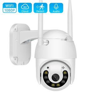 2MP Outdoor Wifi IP Camera 1080P Color IR Night Vision PTZ Camera Onvif TF Card Cloud Storage Speed Dome Camera V380 App
