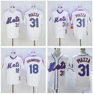 Atacado Homens Darryl Strawberry Jersey Mike Piazza # 30 Michael Conforto jérsei de basebol shirt costurado Top Quality