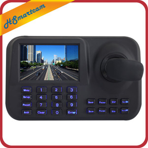 Network Keyboard Controller 5 inch 3D Joystick HD LCD Display IP PTZ Keyboard Controller For High Speed Dome Camera