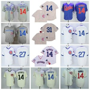 Chicago Baseball Jersey 14 Ernie Banks Jersey 27 Addison Russell 31 Maddux Cool Base 2016 Pinstripe Pullover 09