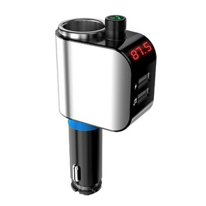 AD909 Bluetooth FM Transmitter Classic Colors and Simple Durable Design Handsfree Car Kit MP3 Music Player Power Outlet