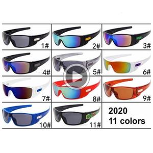 Heißer Verkaufs-Mann-Sport-Sonnenbrille UV400 Radfahren Goggle Unisex Dener 11 Farben PC Full Frame-Schild Brillen