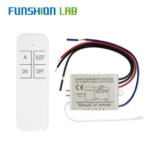 Ampul için Funshion 1 Yollu AC 220 V RF Uzaktan Dijital Kablosuz Uzaktan Kumanda Anahtarı ON / OFF Tavan Fan Paneli Kontrol Anahtarı
