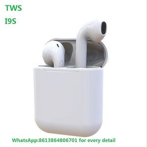 I9S Tws Earphone Headphone With pop up window Stereo TWS Earbuds for IOS Android Phone With Box Wireless Bluetooth Headphone