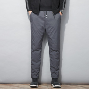 Winter 2020 top designer down outdoor pants men's fashion casual pants brand high quality loose down pants