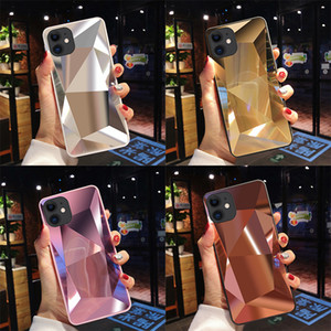 3D Diamond Mirror Case for iPhone 11 Pro Max iPhone XS Max Huawei Samsung TPU Shockproof Cell Phone Case Cover