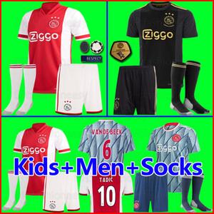 20 21 AJAX amsterdam maillots de football FC 2020 2021 PROMES TADIC NERES ZIYECH VAN Beek hommes + enfants enfant kits de football chemises uniformes MAILLOT de foot loin de la