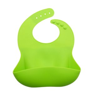 1pc Kid Infant Bibs Baby Soft Silicone Bib Waterproof Lunch Bibs Adjustable Boys Girls Infants Silicone Soft bibs