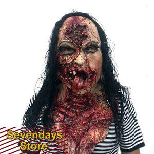 Halloween Horror Маска женщины Cos Маска Scary Полный Глава Хэллоуин Террор Fancy Dress Horror