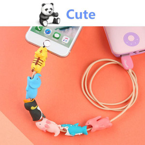 Phone Cable Protector For Cell Phone Charger Cable Bite Cute Animal USB Charger Accessories Creative Data Protection Cover Mini Wire Cord
