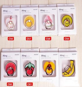 Strawberry Phone Plus 7 Creative für Samsung Bananen-Telefon-Halter Universal Mobile Iphone Buckle Fruit Mounts stehen Handy S8 Ring Supp QLpEXr