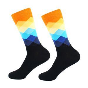 Casual Socks comfortable Diamond durable Printed Cotton Blend Dress Hosiery Footwear Accessories