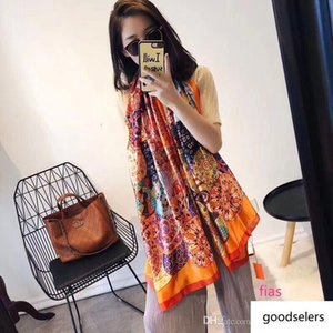 Brand silk scarf High Quality women brand colorful shawl scarfs Pashmina fashion long ring Christmas gift wholesale A16