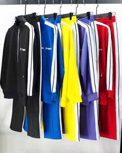 PALM arc-en-Haut rayé Veste PA lettre Sweater Pantalons sport pour hommes occasionnels Uniformes scolaires en vrac pour les hommes et les femmes 01