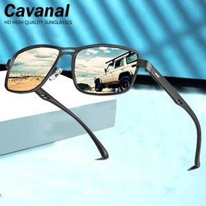 Sunglasses Men Polarized 2020 Square Metal Frame Male Retro Sun Glasses TR90 UV400 Protection Night-Vision Zonnebril Heren