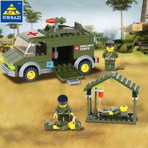 블록 구급차 군단 퍼즐을 구축 아동 장난감 높은 품질의 장난감 소년과 소녀 모두를 차단 조립