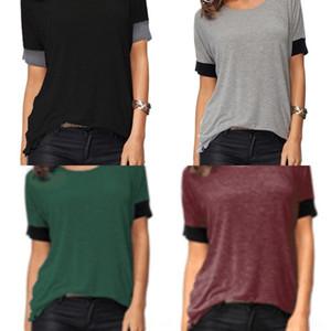 L8q7X 0A5c4 цвет чистый 2019 T-Shirt Rack 180G короткий рукав футболки свободный большой размер женщин одежда из хлопка