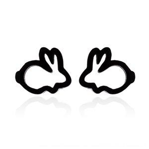 Nouvelle mode Tu Er et coréens boucles de lapin creux boucles d'oreilles de tempérament de lapin