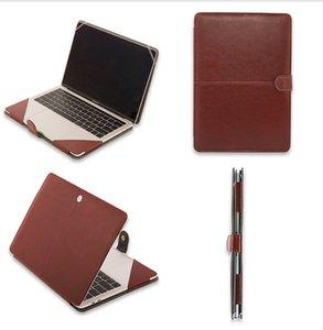"""Funda de cuero PU para MacBook Air 11 Air13 PRO 14 """"13.3"""" 15.4 """"15.6"""" Cubiertas"""