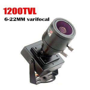 Micro lente varifocal 6-22mm de vídeo mini cámara 1200tvl Ajustable seguridad de la lente del metal de Vigilancia CCTV cámara del coche Los adelantamientos