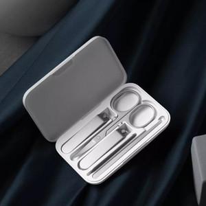 샤오 미 Youpin 손톱 깎기 세트 5PCS 휴대용 손톱 발톱 매니큐어 페디큐어 자기 흡수 스테인레스 스틸