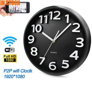 Câmaras de vigilância HD P2P WiFi parede circular relógio da câmera IP DVR Segurança por vídeo 24 horas Gravador de vídeo ao vivo Detecção Móvel