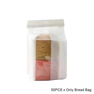 50pcs Home Kitchen Baking Bread Bag Limpar presente algodão Mistura de papel auto-selagem