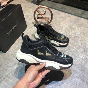 2019 scarpe da uomo di projetar di Lusso clássicas Triple S Ar Livre Atlético sneakers plataforma tênis preto # 4F