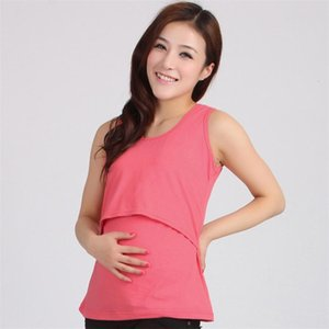 DHgate Fashion Tanks 11 Colors Women Pregnant Maternity Casual Solid Clothes Tops Breastfeeding Hot drop shipped OB19
