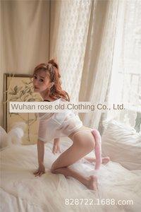 ZlTaZ Rose pantalones de zorro viejo calzoncillos Mao correa atractiva cola gorda linda mujer atractiva ropa interior del estudiante Bajo Mao