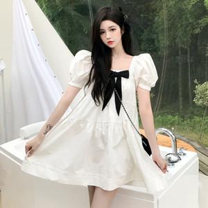 PDITS Mar Alquiler de Verano 2020 blanca muñeca de la princesa de envejecimiento burbuja de la manga larga Doll Dress vestido de línea princesa del collar cuadrado A-