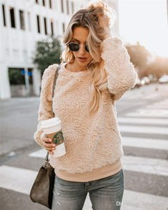 Clothes Designer Solid Womens Fleece Sweatshirt Fluffy Loose Fashion Womens Clothes Spring Autumn Long Sleeve Casual