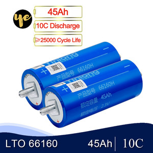 6pcs Lithium-Titanat-Batterie LTO 66160 45Ah 2.3V 10C Entladungszellen für DIY 12V 24V 36V 48V EV Solar-System Pack
