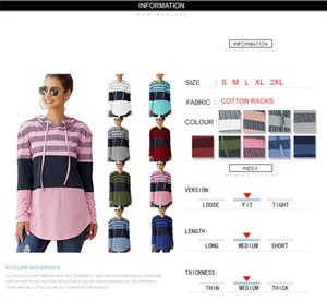 Women Hoodies Sweatshirts Designers Female Autumn Clothes Long Sleeve Pullover Hooded Sweater Tops Loose Striped Patchwork T-shirt E81804