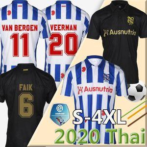 20 21 Heerenveen SC maglia di calcio 2020 2021 camicia FC Heerenveen Calcio maillot de casa piede di distanza camiseta blu nero 20 21 Kit