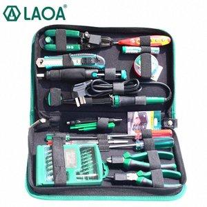 LAOA 52pcs ferramentas de reparo eletrônicos definido dentro de 32 em 1 chaves de fenda precisas Solda Elétrica Ferro cortador de fio Faca IcJe #
