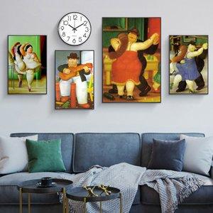 Fernando Botero Posterler Ve Baskılar Salon Wall Art Duvar Resim Dekorasyon By Komik Resimler Şişman Dansçı Çift Tuval Tablolar