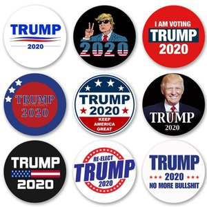 Donald Trump Button Pin American Big Round Brooch Badge Clothing Jeans Scarf Hat Bag Decoration 202020 Presidential Election Supporter Gifts