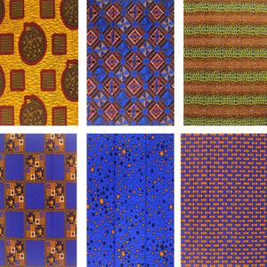 Vendita calda nigeriano raso tessuto africano della cera stampe di cotone materiale Stampe Ankara vera e propria cera nuova pagne per il vestito da cucire