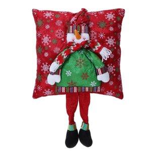 Экологичное Рождество 3D Подушка Санта-Клаус Подушка с ногой рождественских украшений Для дома Noel Натал Нового года Спальня диван DHC1866