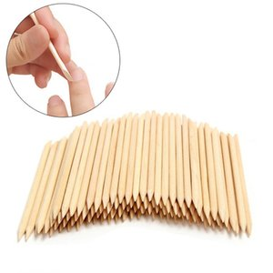 ail Tools Dotting Tools 100PCS Wooden Cuticle Pusher Remover Nail Art Rhinestones Picker Orange Wood Sticks Manicure Multi-function Woode...
