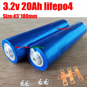 8pcs lithium 3.2v 20Ah lifepo4 43180 no 38120 40152 discharge for DIY 36V 48V Solar energy storage boat Electric Bicycle 1865